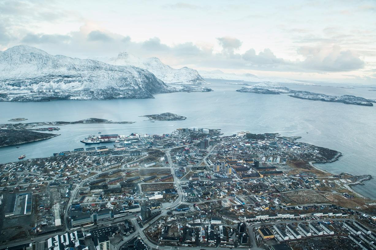 Winter House Public Space In Nuuk Greenland Map